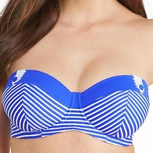 Freya Tootsie Bandeau Bikini Top - Marine Blue