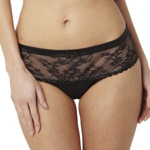 Panache Black Loren Brief - Black/Nude