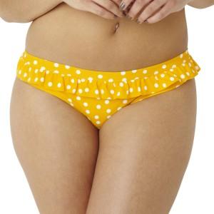 Panache Cleo Betty Frill Bikini Brief - Yellow