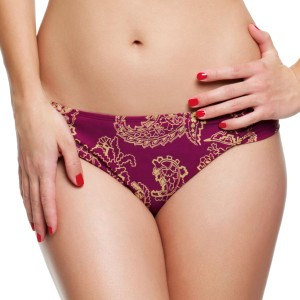 Panache Veronica Gathered Bikini Brief - Paisley Print